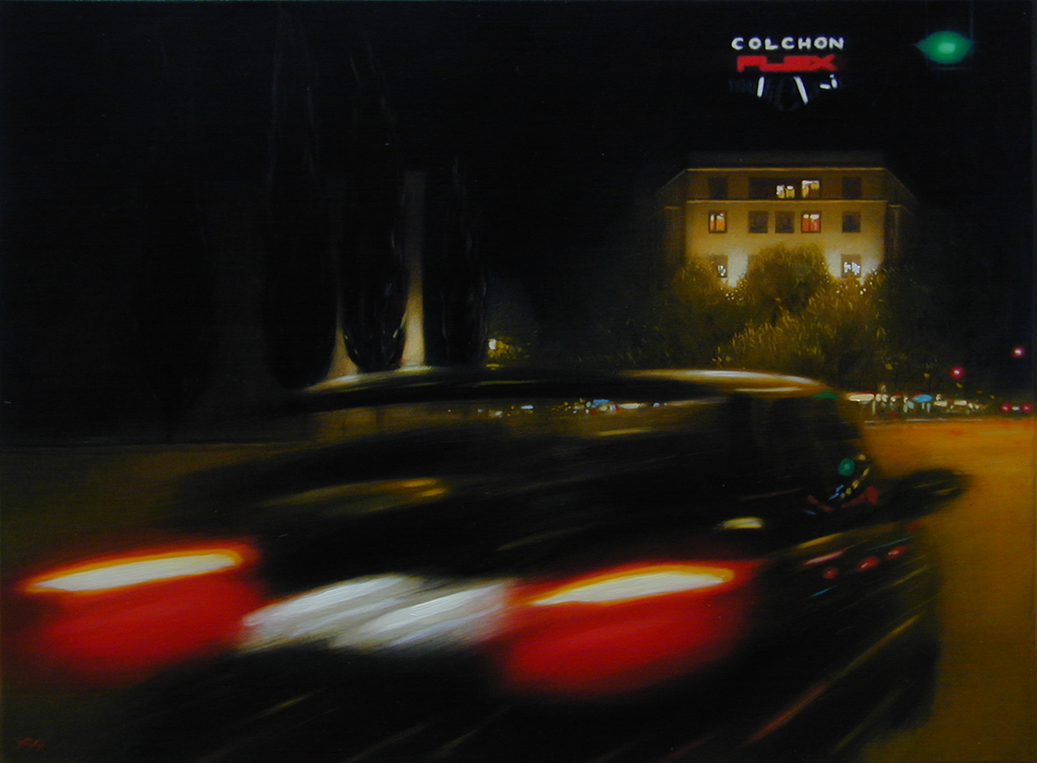 Alberto Perezsan Oil on Wood Barcelona Amsterdam Madrid Milan realism art painting Flex Atocha