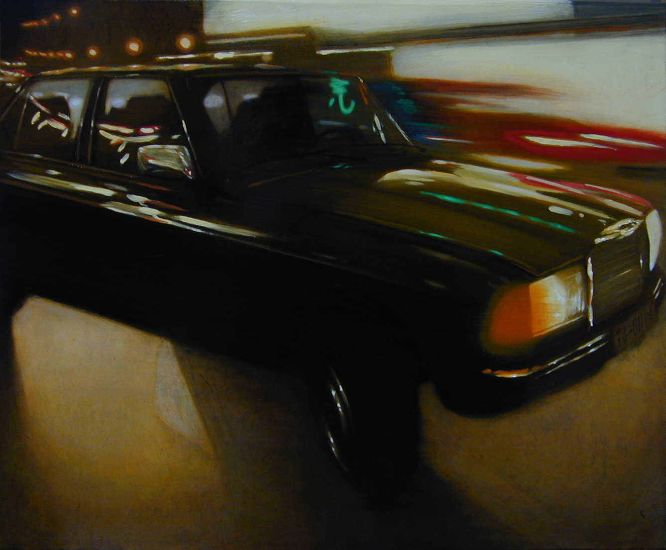 Alberto Perezsan Oil on Wood Barcelona Amsterdam Madrid Milan realism art painting mercedes