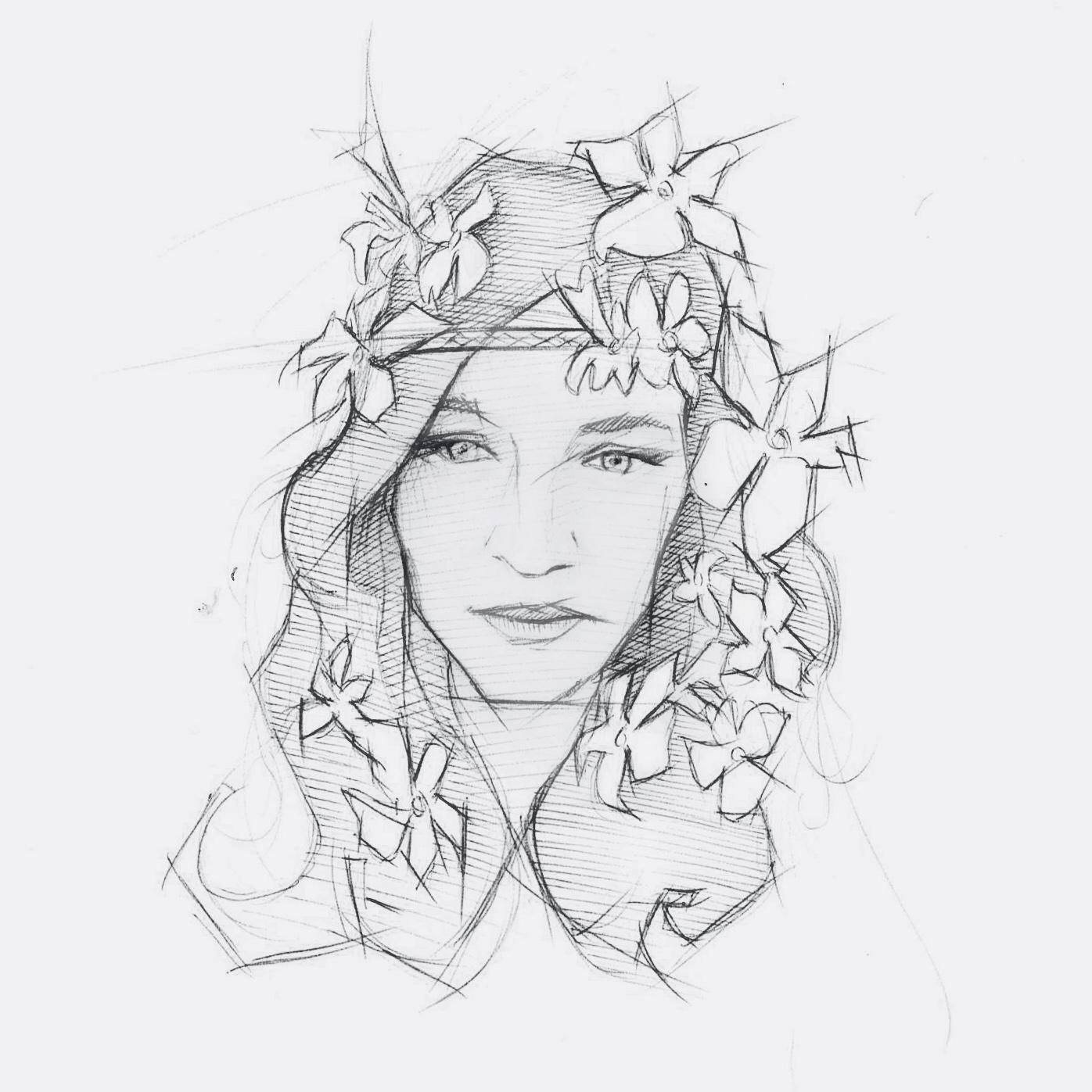alberto perezsan drawings charcoal pen realism paper Femke