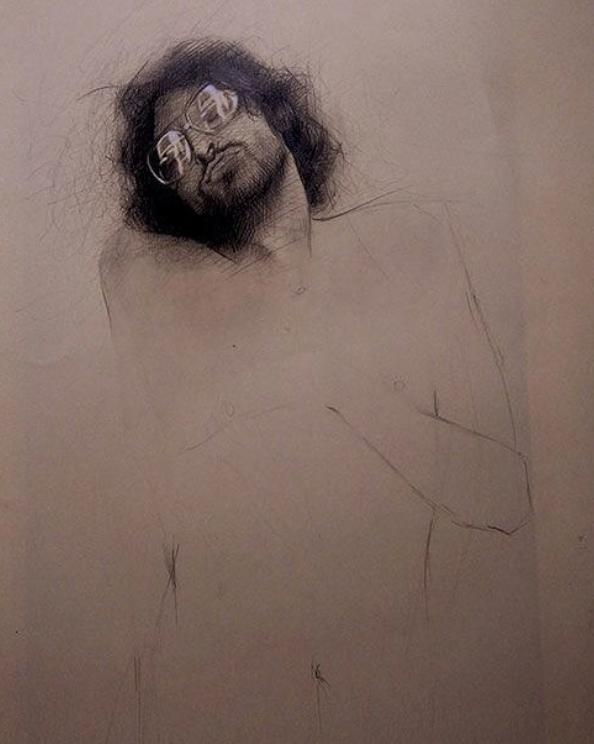 alberto perezsan drawings charcoal pen realism paper Jaco