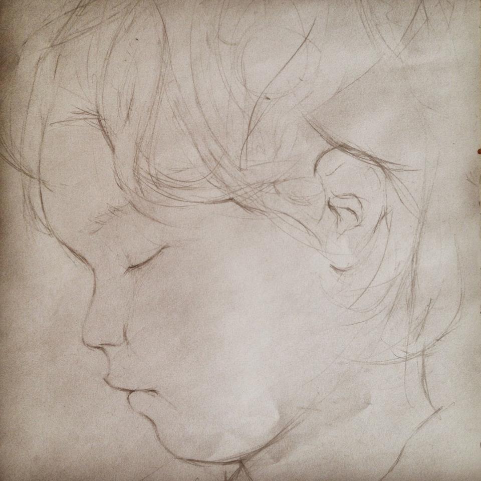 alberto perezsan drawings charcoal pen realism paper Lola