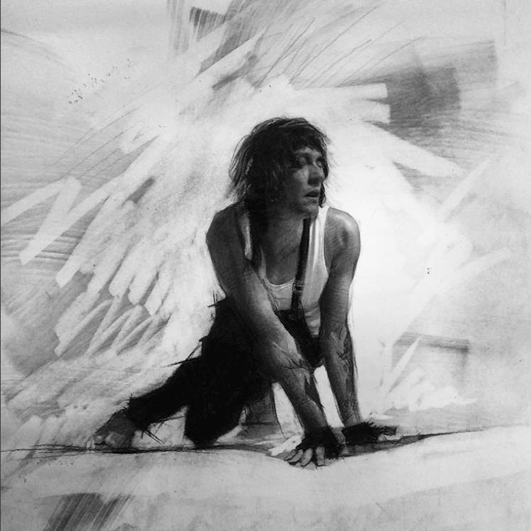 alberto perezsan drawings charcoal pen realism paper